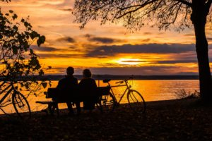 bideford bicycle hire bike tarka trail bideford instow sunset